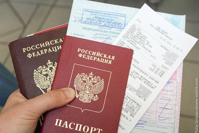 Пакет документов для оформления водительского удостоверения