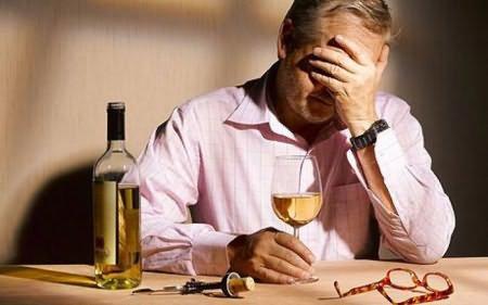 грустный алкоголик